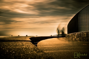 Sea Wall Long Exposure Photography